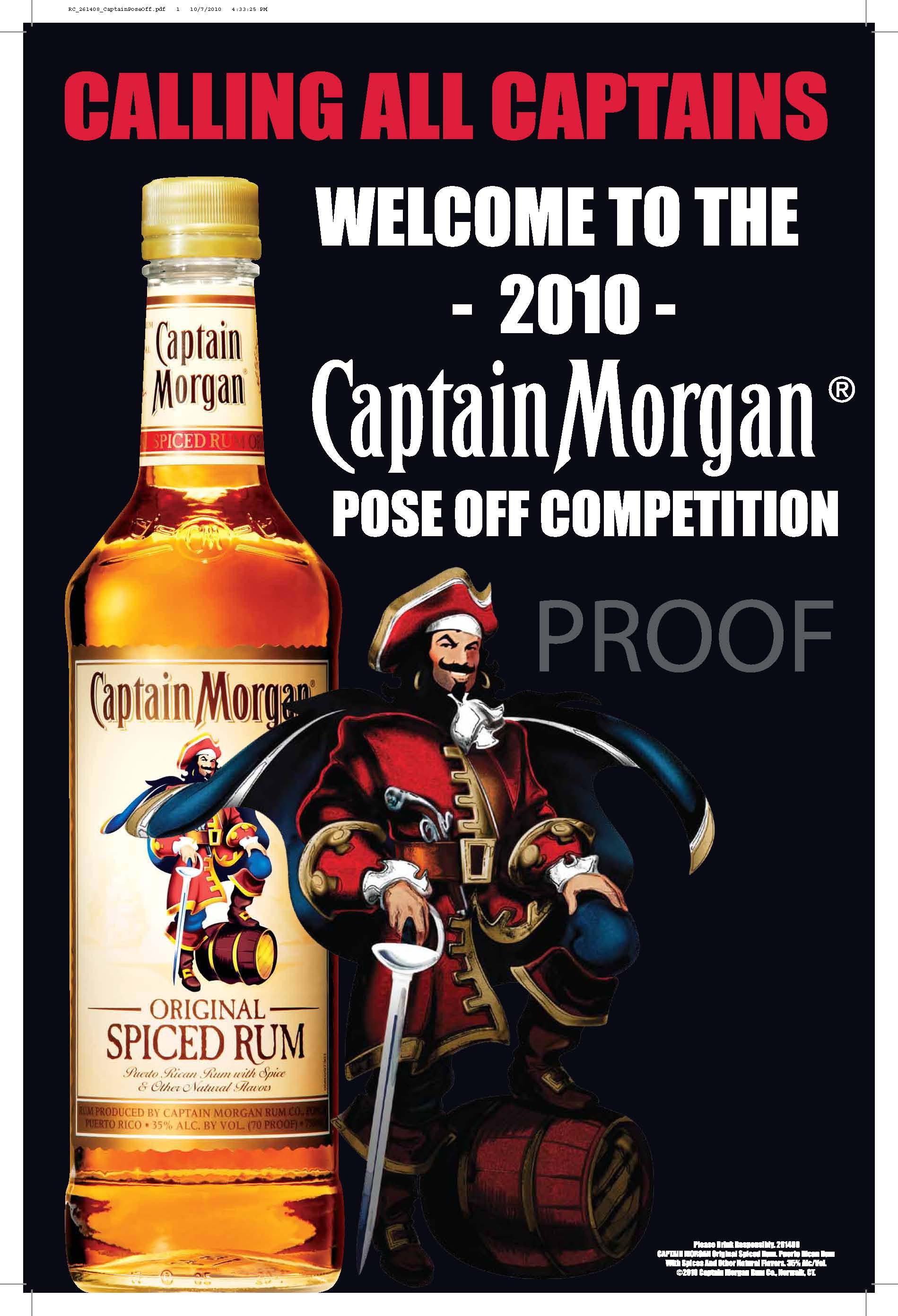 Captain morgan pose