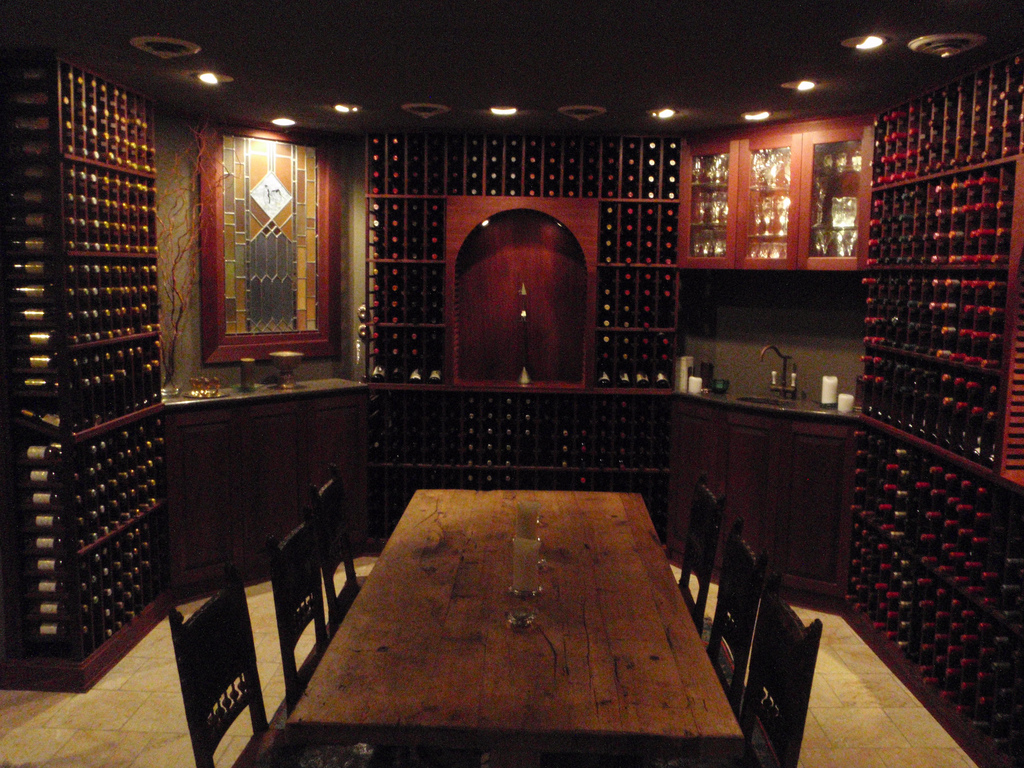 Pin by j d corey on the cellar pinterest wine cellar home wine cellars and tasting room - Home wine room ...